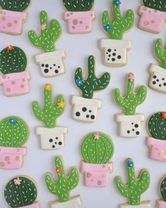 Petits sablés Cactus