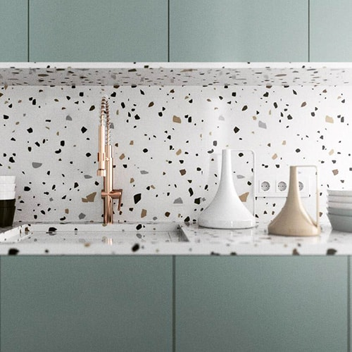 terrazzo plan de travail trendy terrazzo plan de travail with terrazzo plan de travail amazing. Black Bedroom Furniture Sets. Home Design Ideas