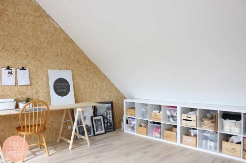 Bureau de Céline, pro du DIY, créatrice du blog déco IDOITMYSELF