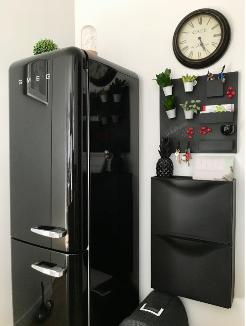 cuisine frigo smeg noir