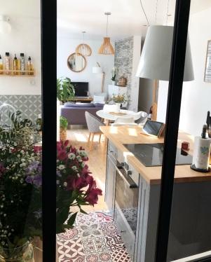 salon cuisine salle à manger vus de la verriere