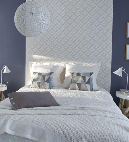 papier peint tete de lit chambre adulte
