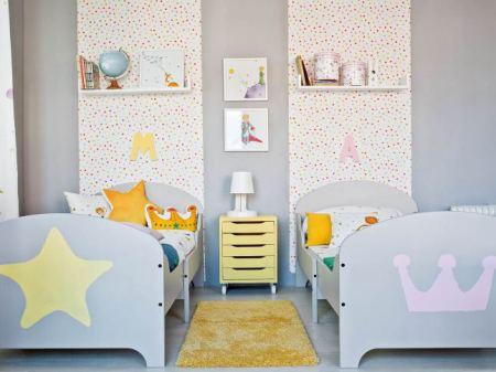 papier peint tete de lit chambre enfant