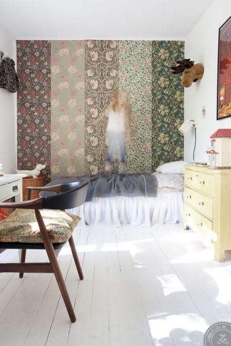papier peint tete de lit