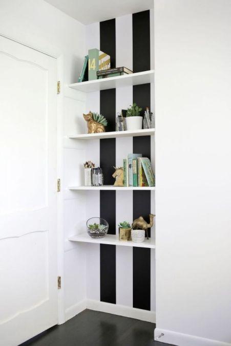 niche papier peint noir et blanc