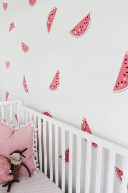 papier peint pasteque chambre enfant