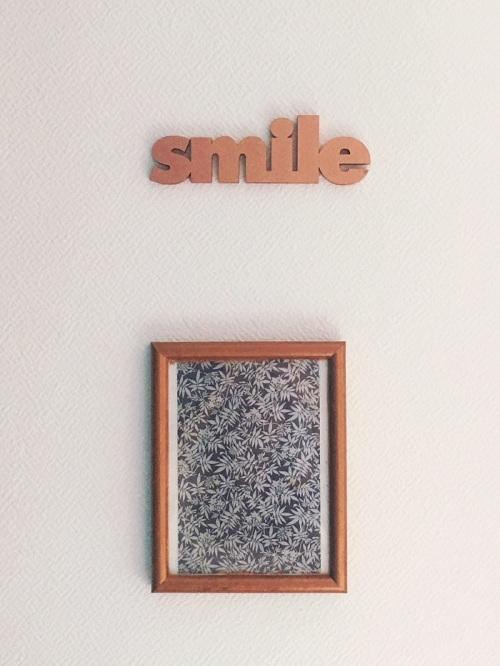 Cadre cuivre papier farrow and ball, mot 3D Smile