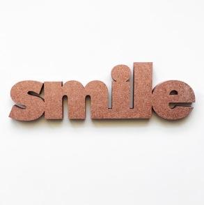 mot 3D smile cuivre