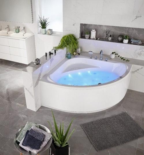 baignoire d'angle lapeyre salle de bain végétale