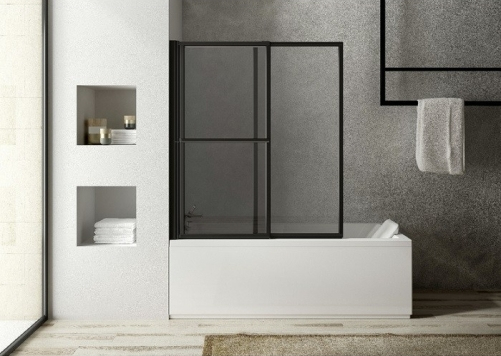 salle de bain écran baignoire industrielle