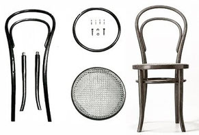 chaise cannee michael thonet