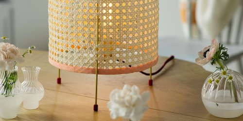lampe appoint cannage diy marie claire idees