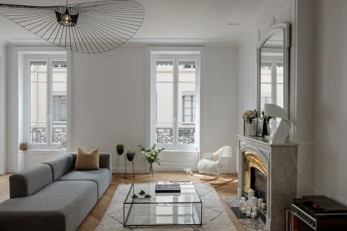 salon de l'appartement d'agathe zoom sur la décoration tendance