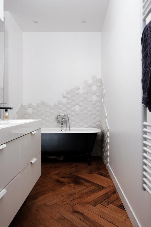 Salle de bain entre modernité et ancien