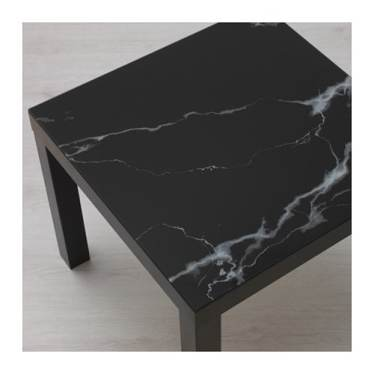 table basse lack ikea plateau en marbre