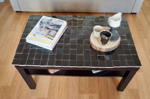 salon diy table basse ikea hack lack sous les pavés les palmiers