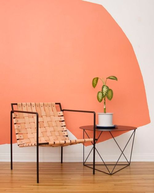 mur salon Couleur pantone 2019 corail vivid coral Happy POG