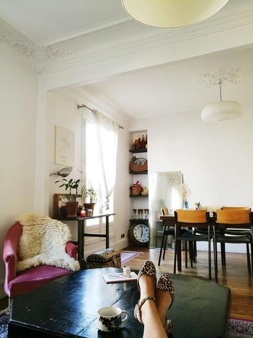 reportage déco dans un appartement parisien haussmannien