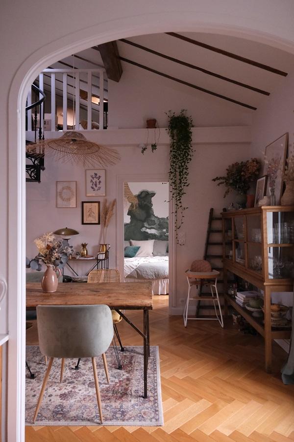 reportage déco chez Chloé & you, photo de la salle à manger