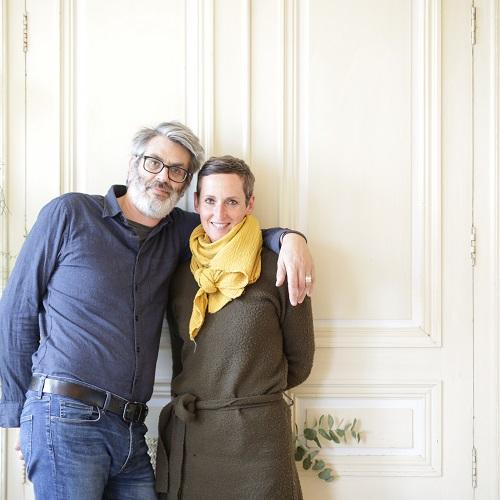 Portrait d'Isabelle et son mari, propriétaires du château de Dirac