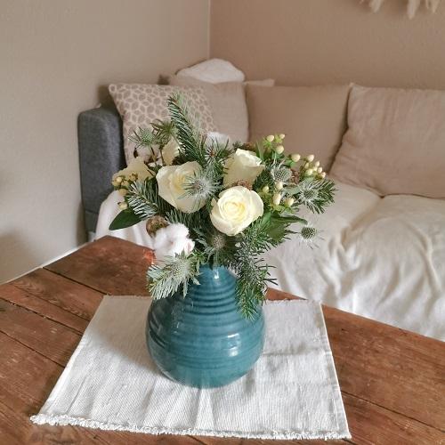 bouquet de fleurs home tour adeline